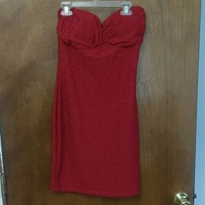 Strapless Bright Red dress